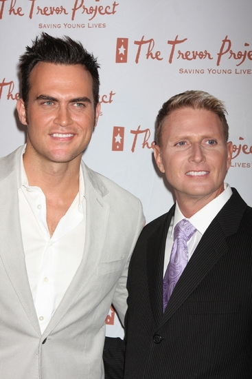 Cheyenne Jackson and Charles Robbins at The 9th Annual Trevor Project New York Gala